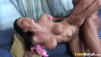 Slamming session with Claire Dames ends with cum-swallowing