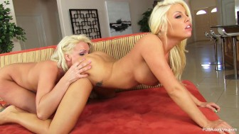 Fishnet Lesbians With Britney Amber