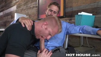 HotHouse CockSucking Delivery Hunk Gets Fucked