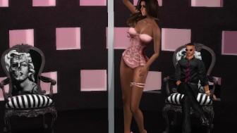 Fred Adjani qui observe une très jolie danseuse en lingerie