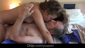 Petite horny housekeeper fucking French old boss cleaning cumshot