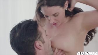 VIXEN Hot Busty Boss Sucks and Fucks Employee's Cock