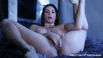 Alison Tyler Plays With A Dildo