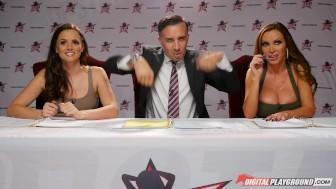 Nikki Benz & Tori Black judging girls blowjob skills in DPStar Season 3 Episode 1