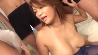 Rui Horie ravished in nasty gangbang action