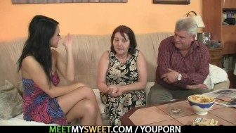 She gets seduced by his perverted olds