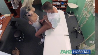 Fake Hospital Hot Italian babe with big tits has intense multiple orgasms
