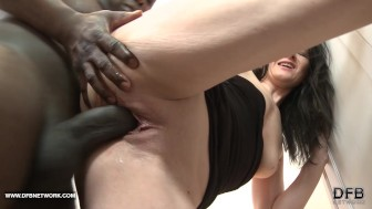 My mommy hairy asshole fucked by black man big cock anal creampie
