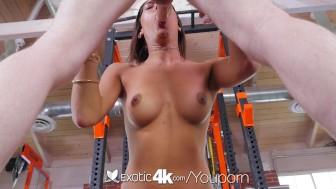 EXOTIC4K Latin Chloe Amour fucks big cock in the gym
