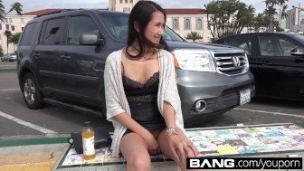 BANG:Asian Teen Gets Her Tight Pussy Pounded! From The Dock To The Cock!!