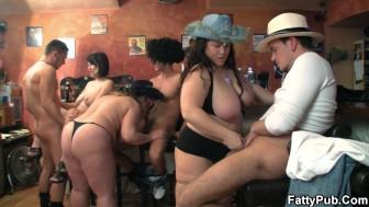 Group bbw gangbang orgy