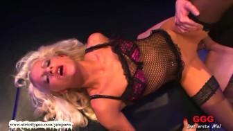 Blonde babe ultimate Bukkake Doll - German Goo Girls