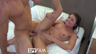 SpyFam Petite brunette step sister Adria Rae fucks her step brother