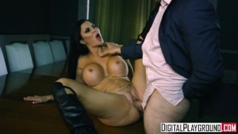 Blown Away - Scene , Jasmine Jae shows of her big tits and leather boots