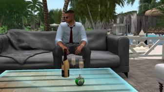 Virtuelsexe - Fred retrouve dans le monde virtuel la jolie Mumu en mini robe