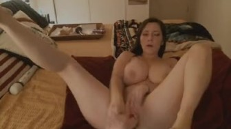 Hot Busty Babe Blowjob and Pussy Fuck With Dildo