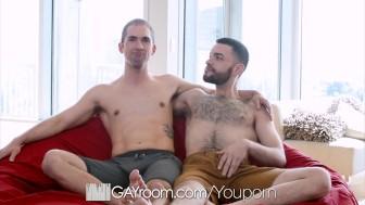GayRoom Spontaneous fuck with Blayne Wilson and Hugo Diaz