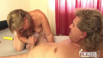 Blonde milf gets fucked