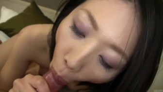 Subtitled uncensored Japanese amateur blowjob and sex in POV