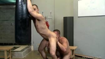 ExtraBigDicks Workout Buddy Eats Ass and Tops Hunk