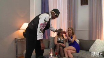 Black Rapper Fucks the daylights out of 2 Russian Babes