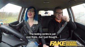 Fake Driving School Instructor cums over learners pussy after anal