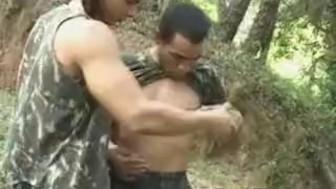 Two Hot Military Gays Jorge and Jose Fucking Each Other in the Jungle