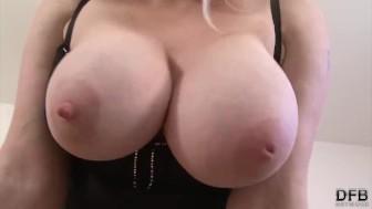 Big Juicy Tits Take Black cock and enjoy BBC Titfuck in Interracial sextape