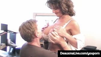 Mature Housewife Deauxma Takes Hubby's Cock In Her Asshole!