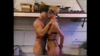 she is blindfolded, he cums on the table.mp4